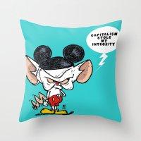 Brain Of Animaniacs : Ca… Throw Pillow