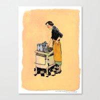 Saint Julia, Patroness of Kitchens Canvas Print