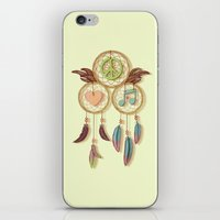Peace, Love And Music iPhone & iPod Skin