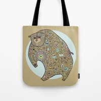 Hunched Bear Tote Bag