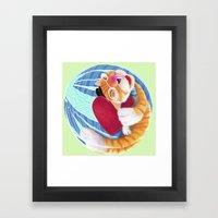 Sleep with Heart Framed Art Print