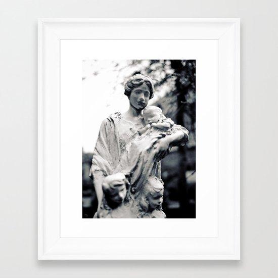 Mother and children Framed Art Print