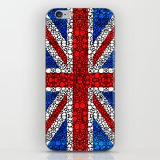 British Flag - Brittain England Stone Rock'd Art iPhone & iPod Skin