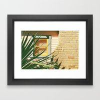 Warm Textures and colors Framed Art Print