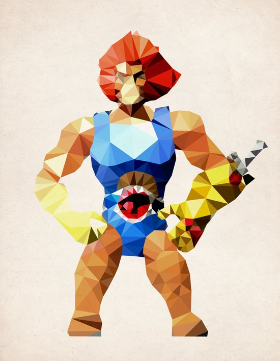 Polygon Heroes - Lion-O Canvas Print