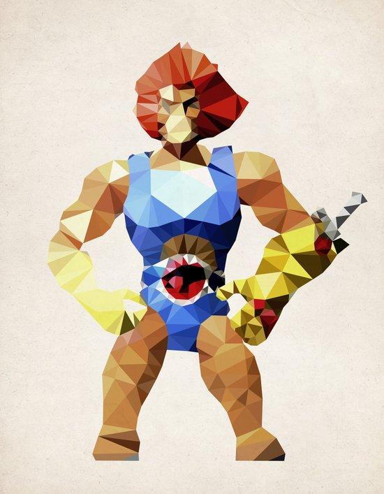 Polygon Heroes - Lion-O Art Print