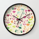 Happy Flowers Wall Clock