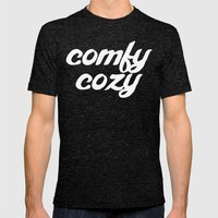 comfy cozy Mens Fitted Tee Tri-Black SMALL