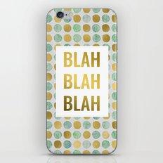 Blah Blah Blah in Gold and Green iPhone & iPod Skin