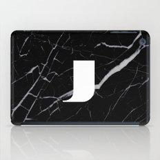Black Marble - Alphabet J iPad Case