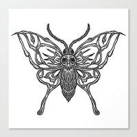 Skeleton Moth Canvas Print