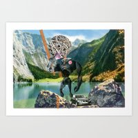 Holiday am KönigsSee 1 Collage Art Print