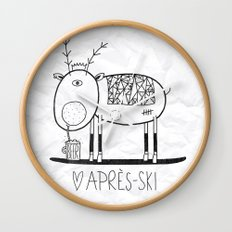 Apres ski Wall Clock
