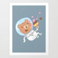 Space Bear Art Print