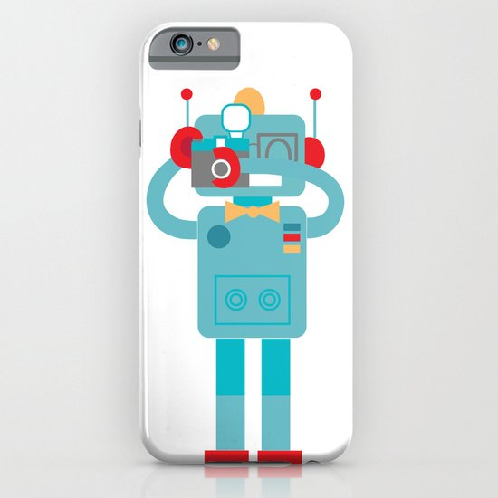 Robot loves Diana iPhone & iPod Case