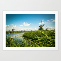The wind mills of the Netherlands Art Print
