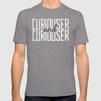 Curiouser and Curiouser Mens Fitted Tee Tri-Grey SMALL