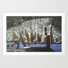 Crowded Skyline Art Print
