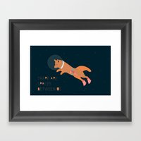 There are spaces between us Framed Art Print