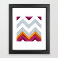 Chevron_Solstice Framed Art Print