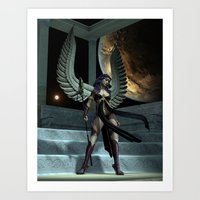 Fantasy Winged Female Warrior Art Print