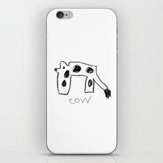 My Cow Drawing iPhone & iPod Skin
