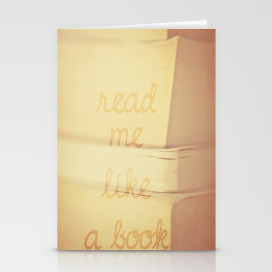 Read Me Stationery Card
