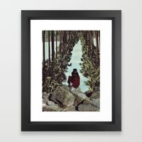 RELENTLESS CORRIDORS Framed Art Print
