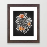 Beauty is a Light in the Heart Framed Art Print