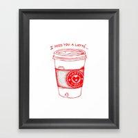 I Miss You A Latte Framed Art Print