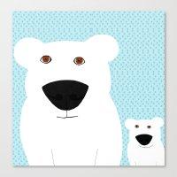 Winter - Polar Bear 2 Canvas Print