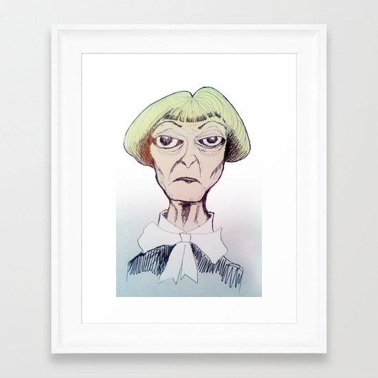 Betty D eyes Framed Art Print