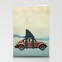 vw Stationery Cards featuring VW soup by Vin Zzep