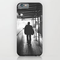 iPhone & iPod Case featuring lonely guy silhouette by ihavenonameandadress