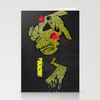 Pikachu Typography Stationery Cards