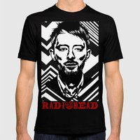 RadioHead Mens Fitted Tee Black SMALL