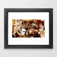 Jame Dean - Grunge Style… Framed Art Print