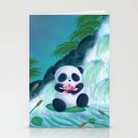 Panda Lilly Stationery Cards