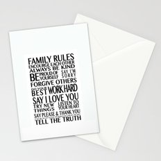 Family Rules 2 Stationery Cards