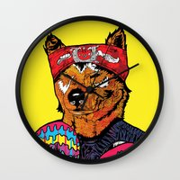 Shiba - The Hustler  Wall Clock