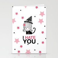 I Hate You / Witch Stationery Cards