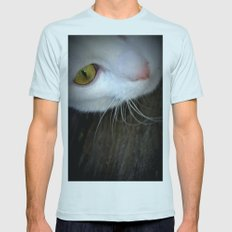 cat Mens Fitted Tee Light Blue SMALL