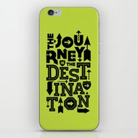 Green Journey Quote iPhone & iPod Skin