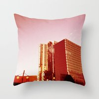 City Rooftop Throw Pillow