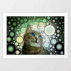 cat dreamy Art Print