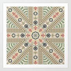 Abstract Currency Collage Art Print