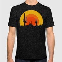 mucho calor Mens Fitted Tee Tri-Black SMALL