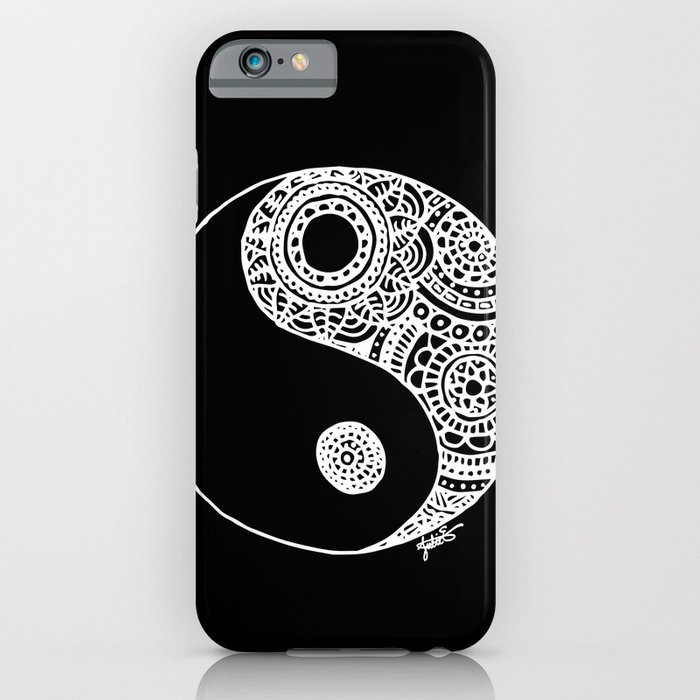black white lace iphone 6s samsung galaxy case mobile yin yang