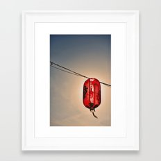 Backlit Chinese Lantern Framed Art Print