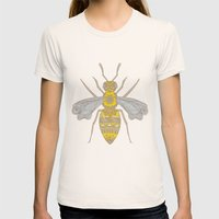 Mr Bee Womens Fitted Tee Natural SMALL